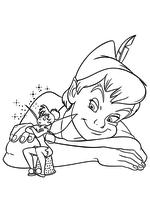 Раскраска - Питер Пэн - Динь-Динь и Питер Пэн