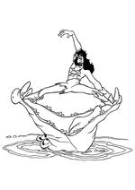 Раскраска - Питер Пэн - Капитан Крюк в пасти крокодила