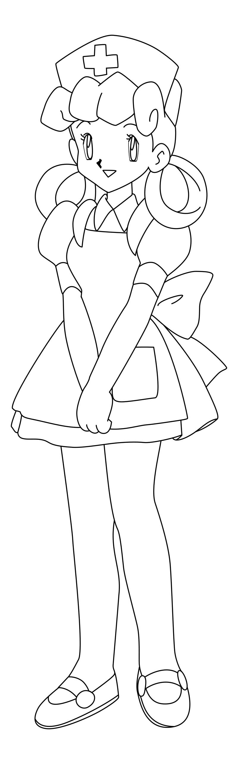Раскраска - Покемон - Медсестра Джой | MirChild