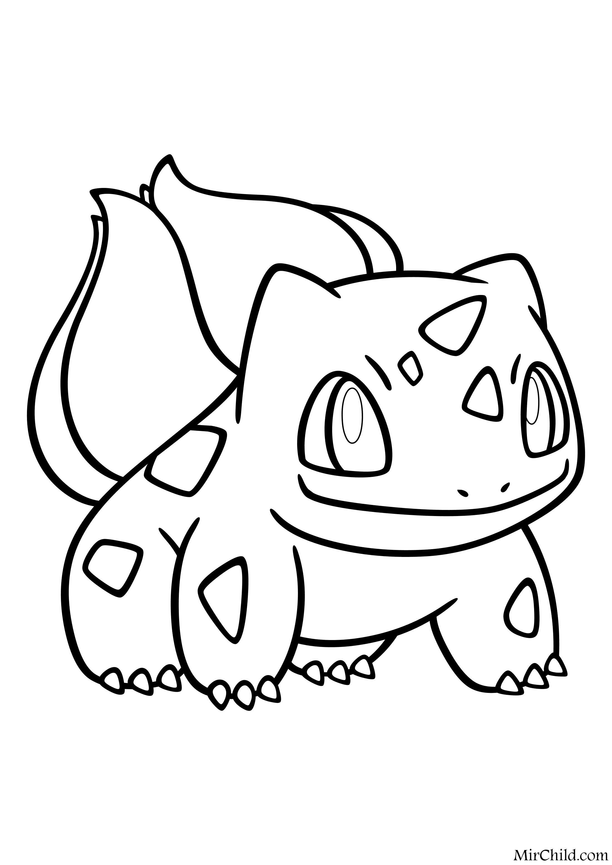 Раскраска - Покемон - 001 - Бульбазавр | MirChild