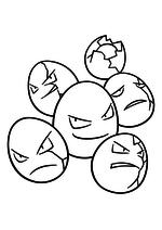 Раскраска - Покемон - 102 - Экзеггут