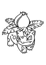 Раскраска - Покемон - 002 - Ивизавр