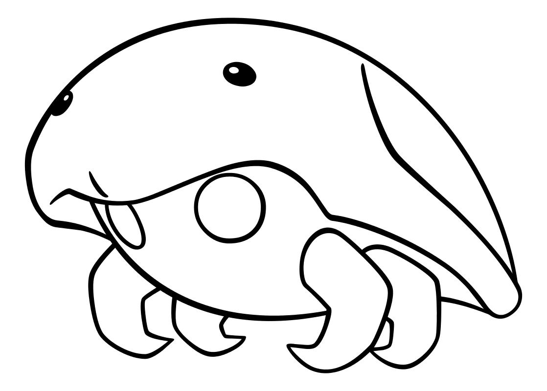 Раскраска - Покемон - 140 - Кабуто
