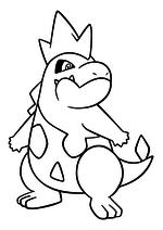 Раскраска - Покемон - 159 - Кроконав