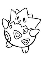 Раскраска - Покемон - 175 - Тогепи