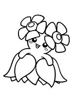 Раскраска - Покемон - 182 - Беллоссом