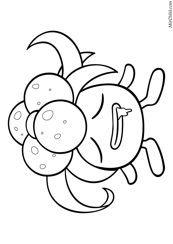Раскраска - Покемон - 044 - Глум   MirChild