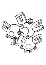 Раскраска - Покемон - 082 - Магнетон