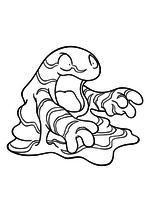 Раскраска - Покемон - 088 - Граймер