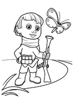 Раскраска - Приключения Незнайки и его друзей - Пулька