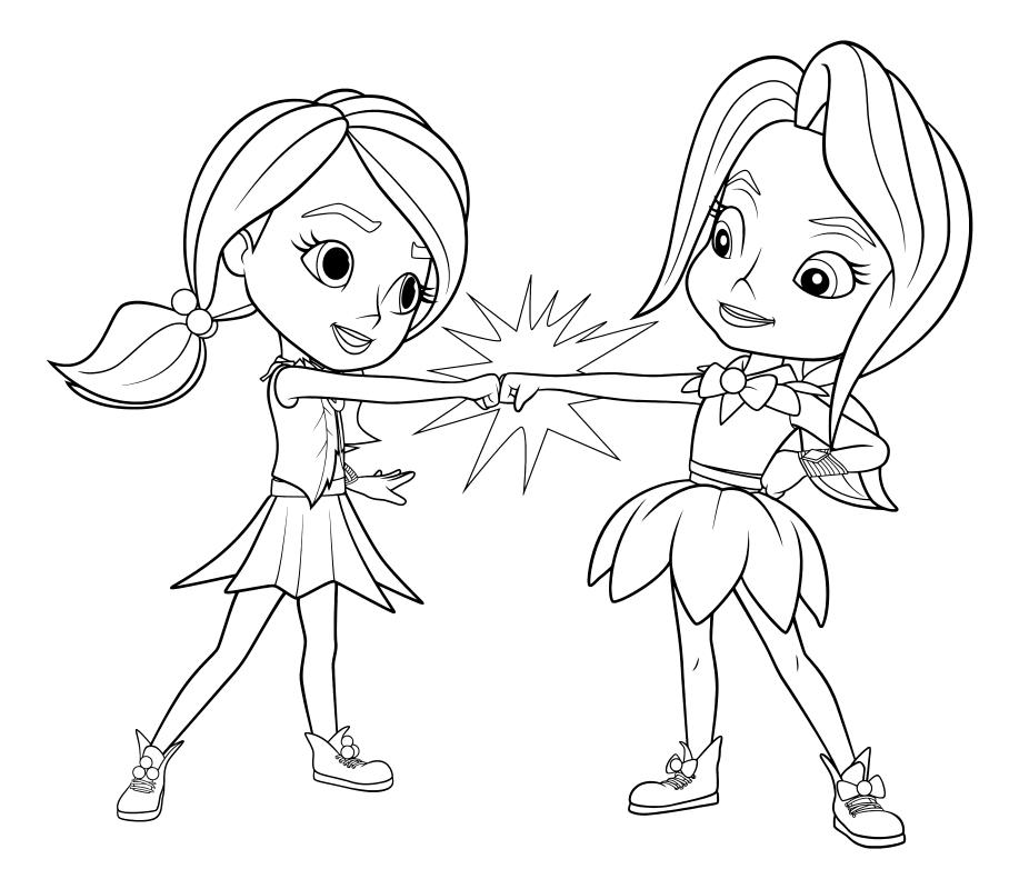 Раскраска - Радужные Рейнджеры - Бонни и Индиго