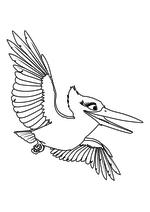 Раскраска - Робинзон Крузо: Очень обитаемый остров - Зимородок Кики