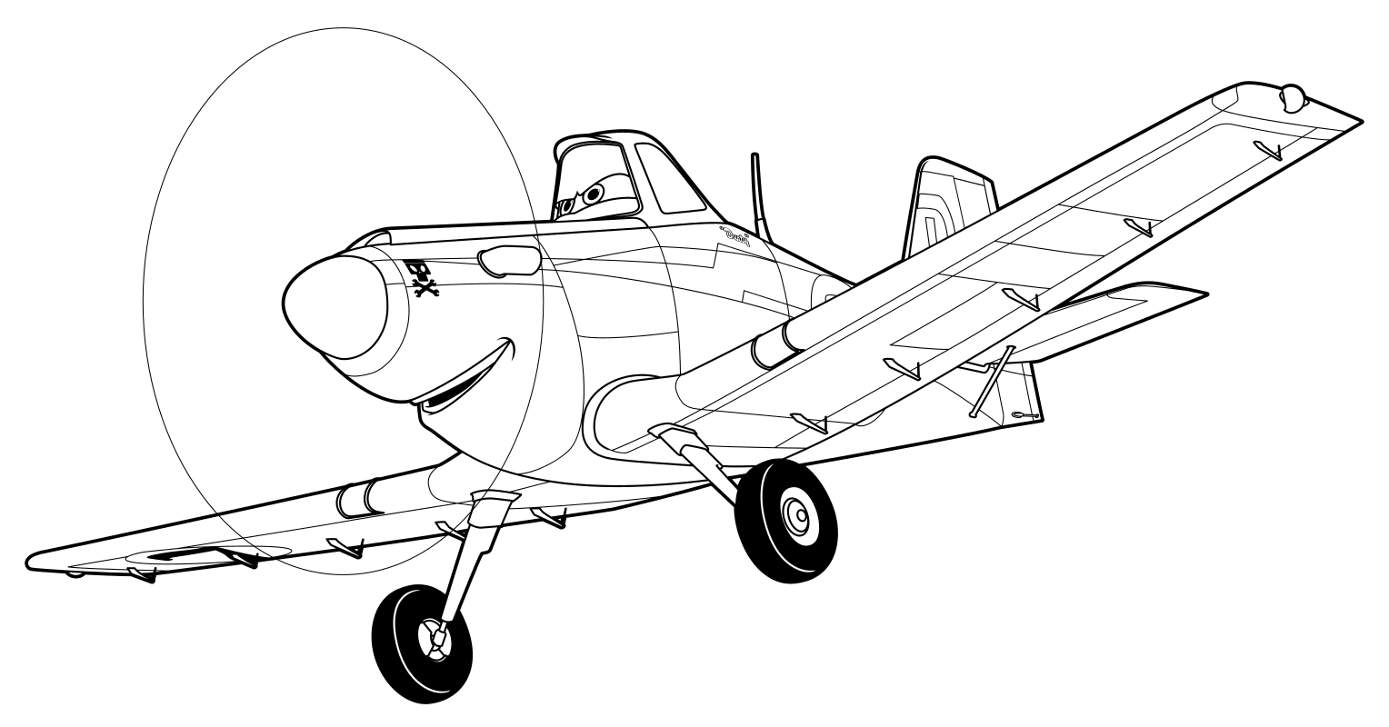 Раскраска самолет дасти распечатать