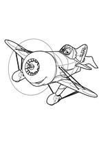 Раскраска - Самолеты - Самолёт Чупакабра