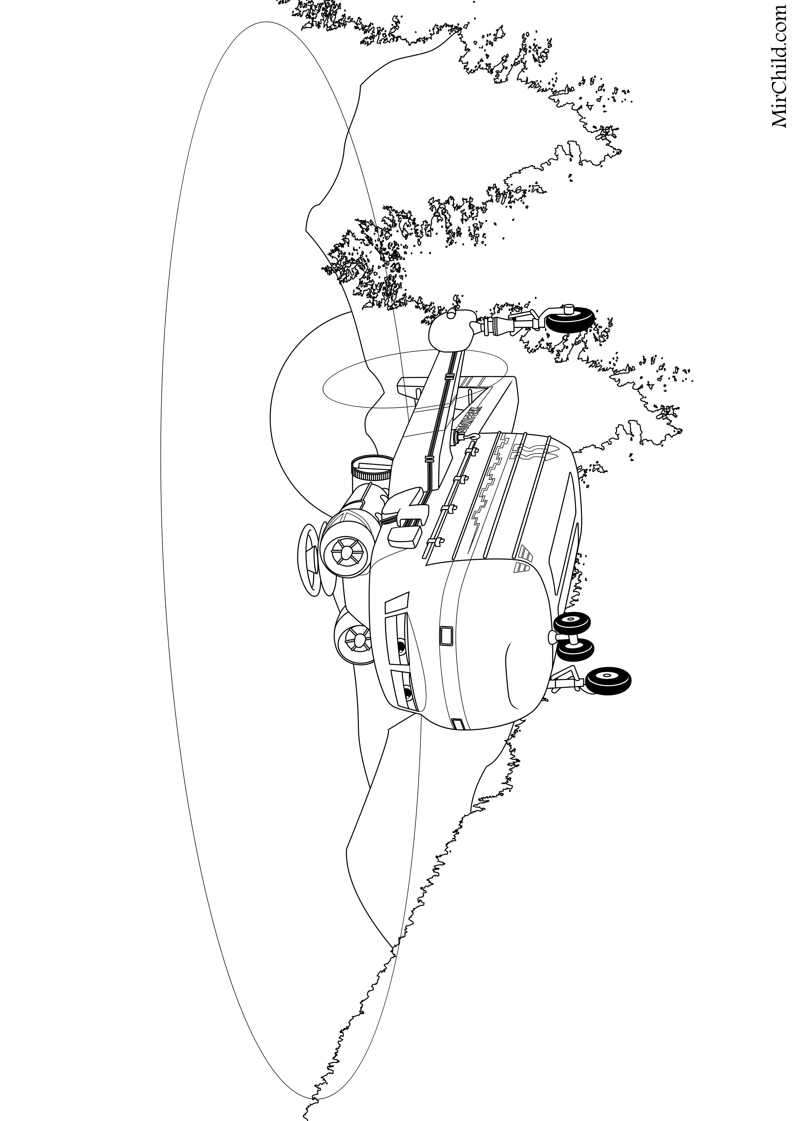 Раскраска - Самолёты: Огонь и вода - Ветродуй | MirChild