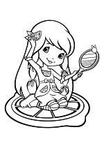 Раскраска - Шарлотта Земляничка: Ягодные приключения - Лимона Безе с зеркальцем