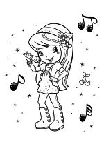 Раскраска - Шарлотта Земляничка: Ягодные приключения - Пойте вместе с Шерри Джем