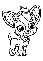 Раскраска - Шарлотта Земляничка: Ягодные приключения - Щенок Малинки Торт - Чиффон