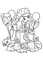 Раскраска - Шарлотта Земляничка: Ягодные приключения - День рождения у Землянички