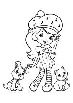 Раскраска - Шарлотта Земляничка: Ягодные приключения - Пирожок, Шарлотта и Булочка