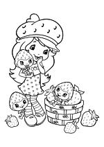 Раскраска - Шарлотта Земляничка: Ягодные приключения - Шарлотта Земляничка и ягодки