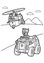 Раскраска - Щенячий патруль - Скай и Чейз