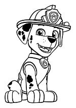 Раскраска - Щенячий патруль - Маршал - далматинец