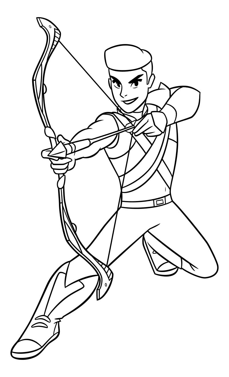 Раскраска - Ши-Ра и непобедимые принцессы - Храбрый Стрелок