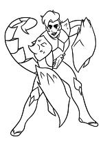 Раскраска - Ши-Ра и непобедимые принцессы - Принцесса Скорпия