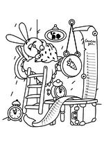Раскраска - Смешарики - Крош и список дел