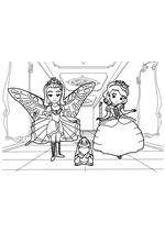 Раскраска Принцесса бабочка и София