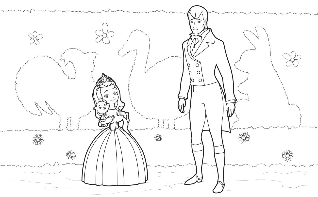 Раскраска Принцесса Эмбер и король Роланд II