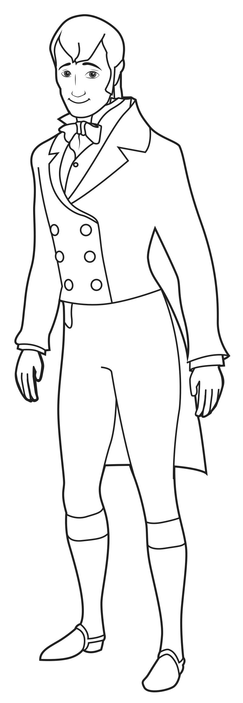 Раскраска Король Роланд II