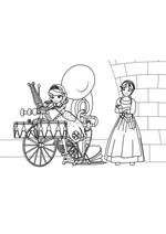 Раскраска Велосипед оркестр Гвен