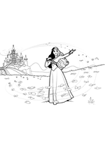 Раскраска Проклятие принцессы Айви