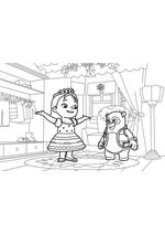 Раскраска - Спецагент Осо - Осо и девочка с короной