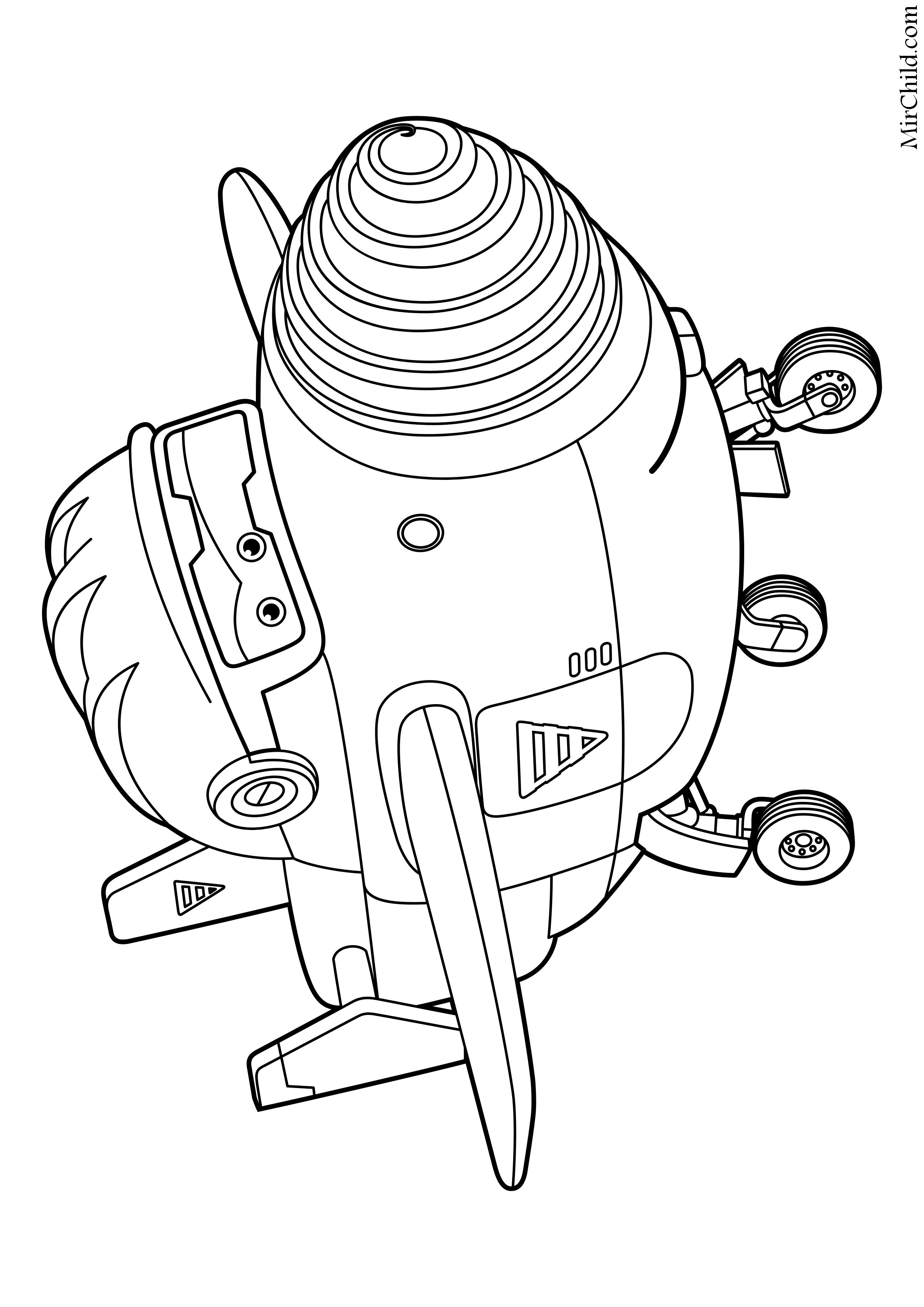 Раскраска - Супер Крылья: Джетт и его друзья - Самолёт ...