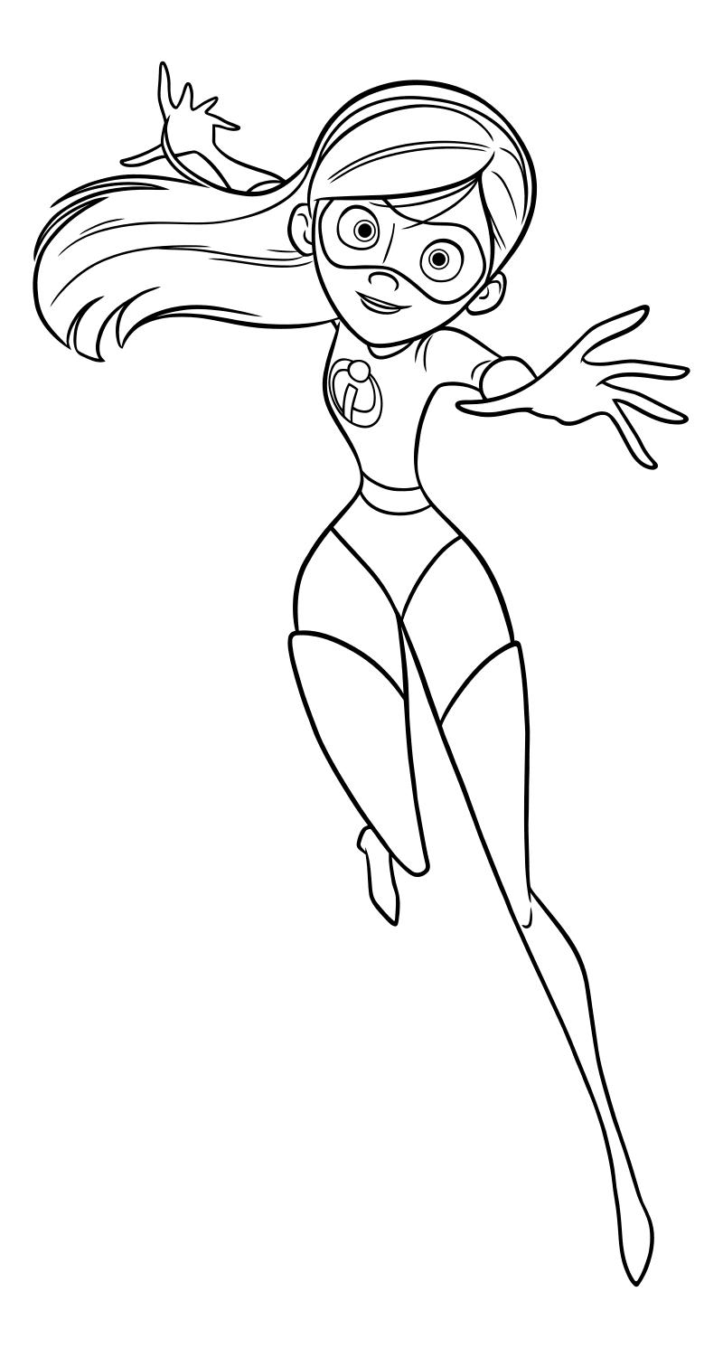 Раскраска - Суперсемейка 2 - Виолетта