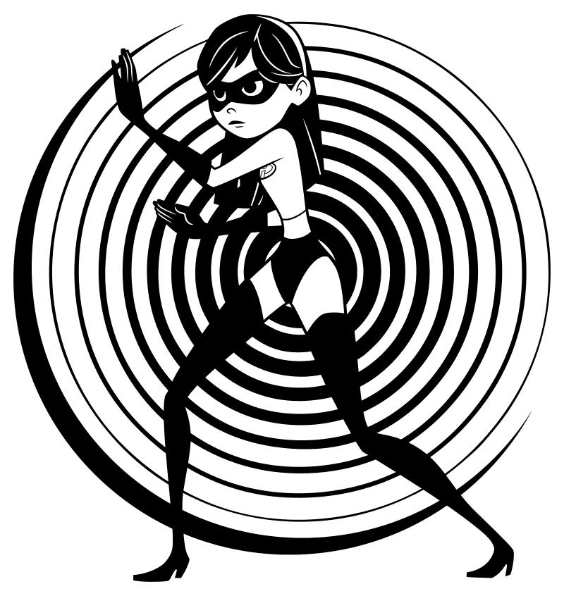 Раскраска - Суперсемейка 2 - Виолетта - Супердевушка