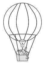 Раскраска - Свинка Пеппа - Свинка Пеппа - Воздушные шары
