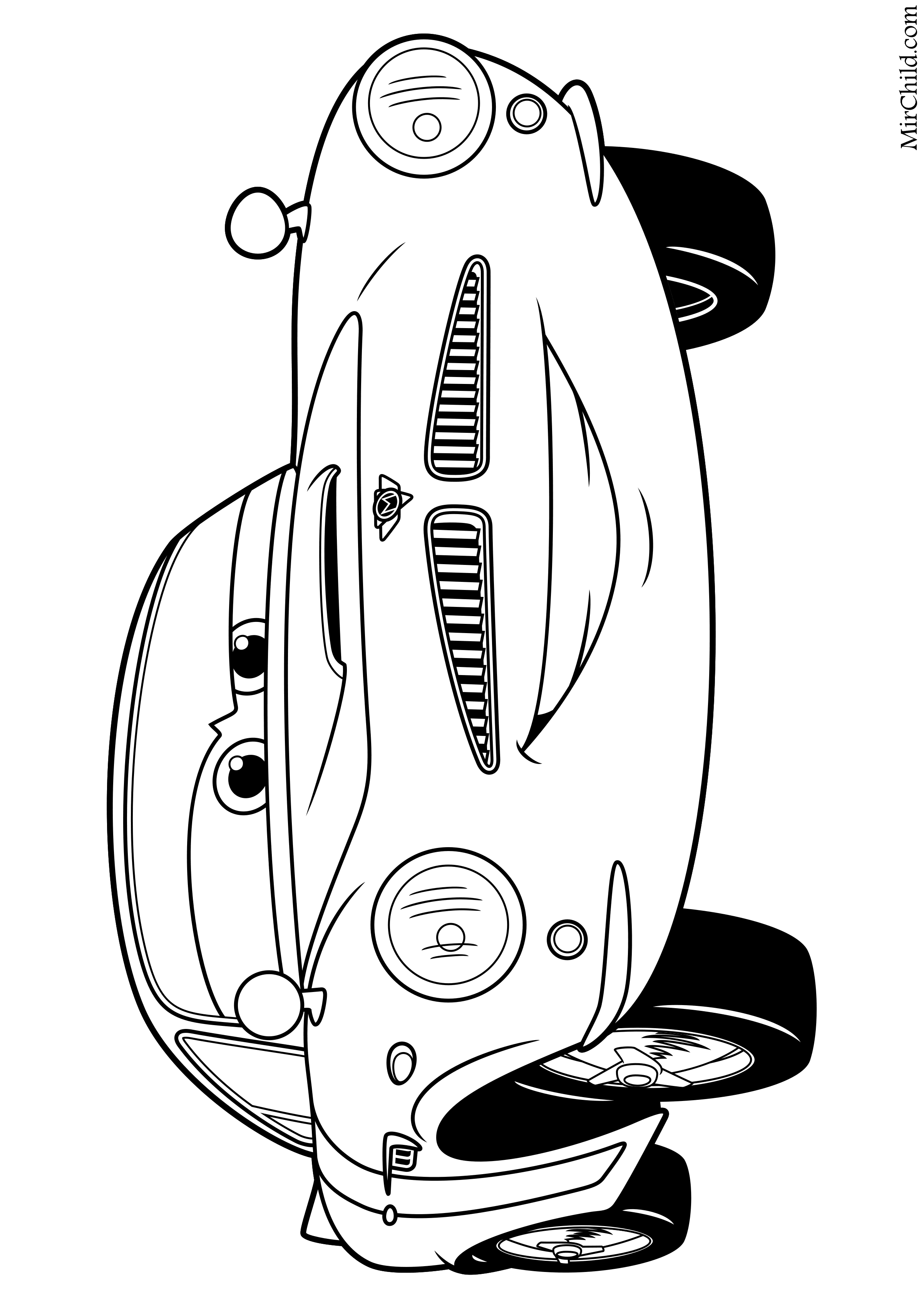 Раскраска - Тачки 2 - Финн МакМисл | MirChild