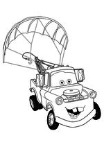 Раскраска - Тачки 2 - Мэтр с парашютом