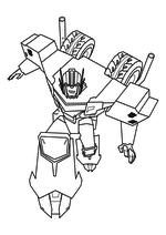 Раскраска - Трансформеры: Роботы под прикрытием - Оптимус Прайм в бою