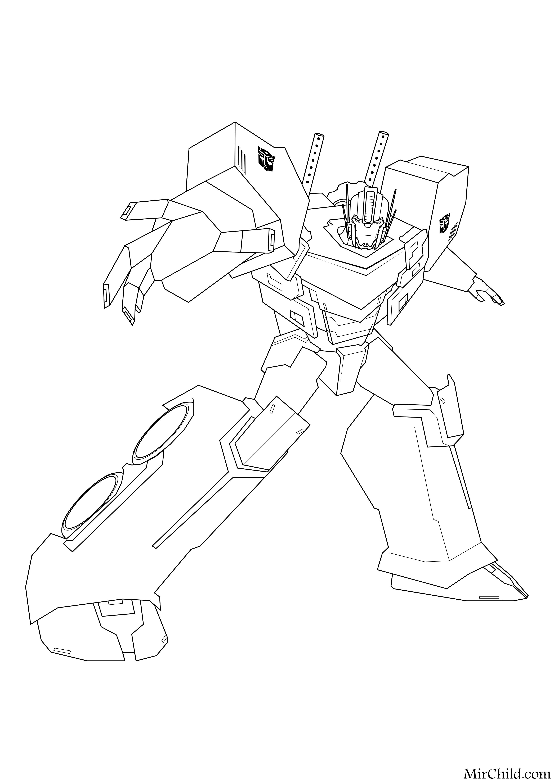 Раскраска - Трансформеры: Роботы под прикрытием - Оптимус ...