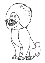 Раскраска - Урфин Джюс и его деревянные солдаты - Смелый Лев