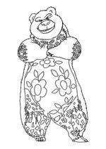 Раскраска - Урфин Джюс и его деревянные солдаты - Медведь Топотун