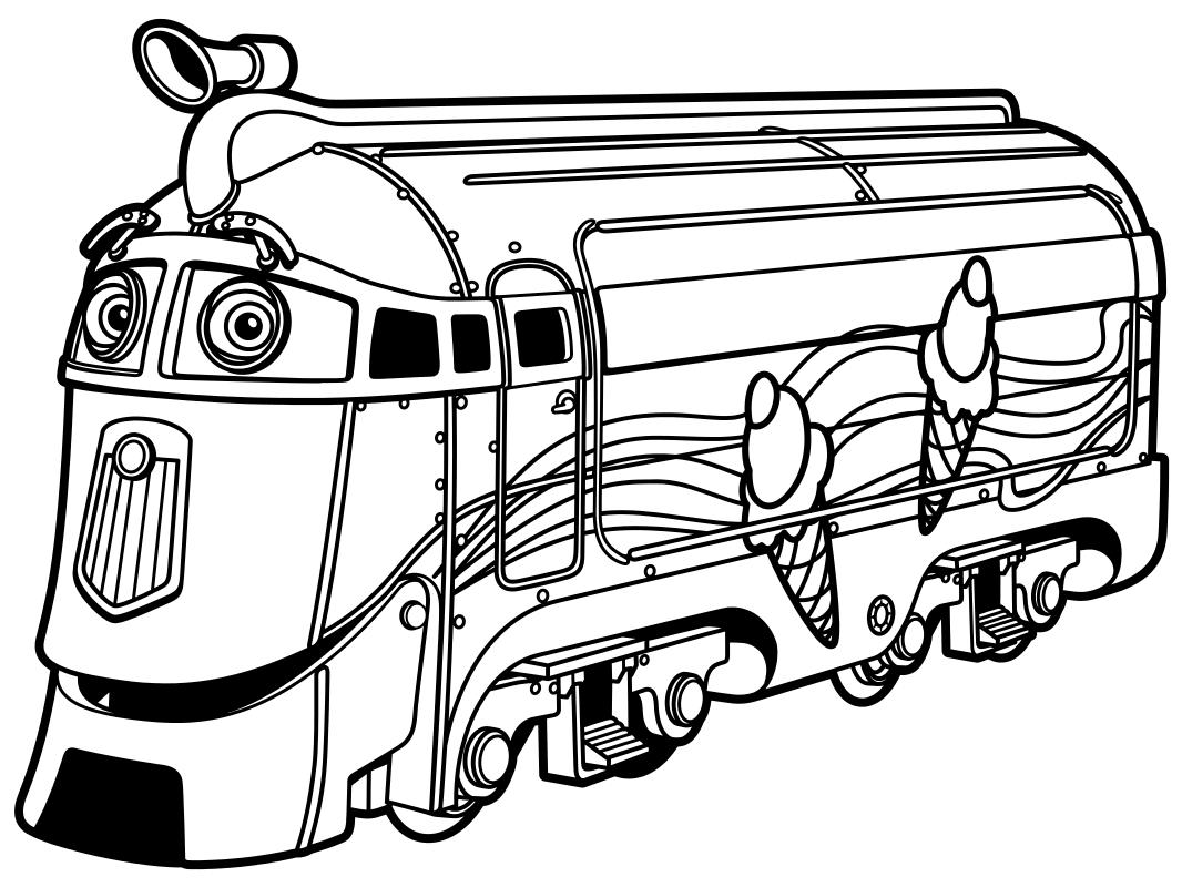 Мультики раскраски паровозики