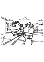 Раскраска - Весёлые паровозики из Чаггингтона - Брюстер и Уилсон
