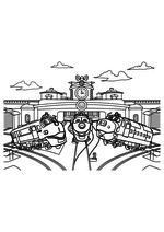Раскраска - Весёлые паровозики из Чаггингтона - Уилсон, Коко и Брюстер