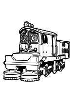 Раскраска - Весёлые паровозики из Чаггингтона - Ирвин